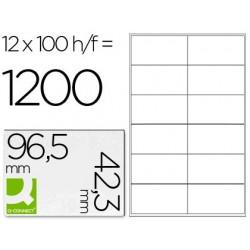 Etiquetas adesivas q-connect din a4 96