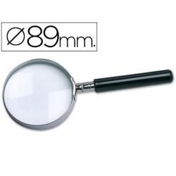 Lupa cristal q-connect aro metalico - 89 mm