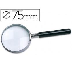Lupa cristal q-connect aro metalico - 75 mm