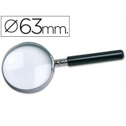 Lupa cristal q-connect aro metalico - 63 mm