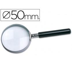 Lupa cristal q-connect aro metalico - 50 mm
