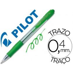 Esferografica pilot super grip verde -retratil -com grip-tinta base de oleo