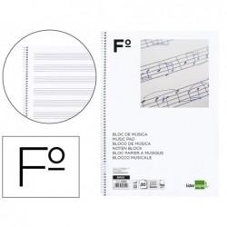 Bloco musica liderpapel folio 20 folhas