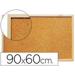 Quadro de cortica q-connect com caixilho em madeira 600 x 900 mm