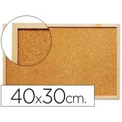 Quadro de cortica q-connect com caixilho em madeira 300 x 400 mm