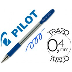 Esferografica pilot bps-gp azul -com grip-tinta base de oleo -com tampa