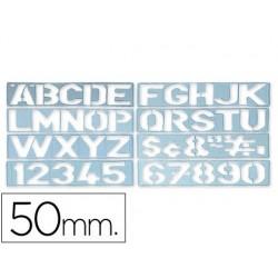 Escantilhao letras e numeros 50mm
