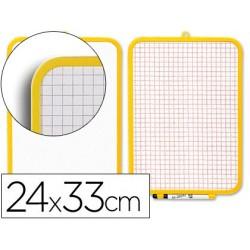 Quadro branco com marcador e apagador 2 faces 240 x 330 mm