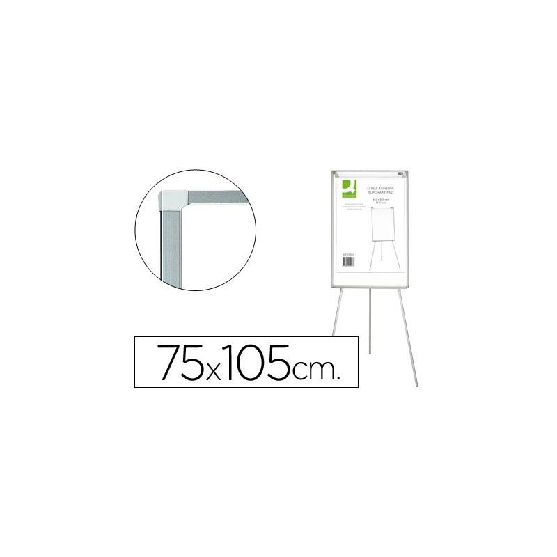 Quadro branco q-connect com tripe 75x105para convencoes