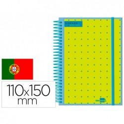 Agenda escolar liderpapel 20-21 college mini em portugues semana vista polipropileno espiral