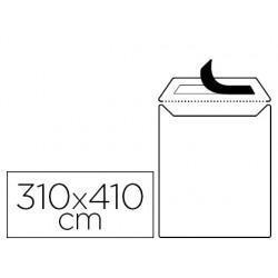 Envelope liderpapel bolsa branco 310x410 mm com aba em tira de silicone papel offset 100 gr caixa de 250 unidades