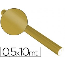 Papel metalizado sadipal 50 cm x 10 mt. 65 grs/m2 dourado