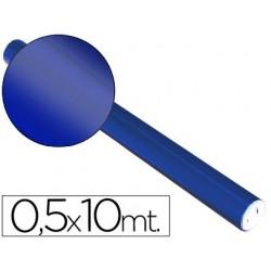 Papel metalizado sadipal 50 cm x 10 mt. 65 grs/m2 azul