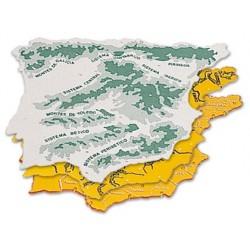 Plantilla plastico mapa españa -bolsa de 3