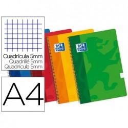 Caderno espiral oxford multidisciplinas capa polipropileno light din a4 90g 75f pautado + 25f quadricula 5 mm
