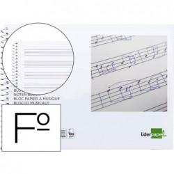 Bloco musica liderpapel folio 20 fls. ao baixo