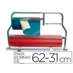 Porta rolo corta papel cromado -para rolos 62-31 cm