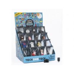 Expositor secretaria pen drive usb techonetech 16 vazio 260x260x370 mm