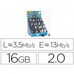 Pen drive techonetech fantasia 3d 16 gb usb 2.0 expositor de 16 unidades sortidas