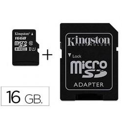 Cartao de memoria sd micro kingston 16 gb canvas select classe 10 com adaptador