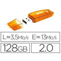 Pen drive emtec flash c410 128 gb 2.0 laranja