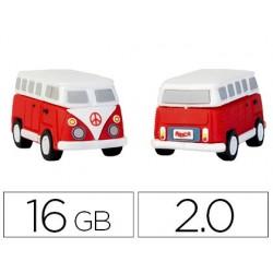 Pen drive techonetech flash drive 16 gb 2.0 hippy van bang camper