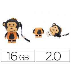 Pen drive techonetech flash drive 16 gb 2.0 macaco laranja