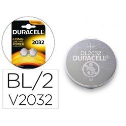 Pilha duracell alcalina botao cr2032 blister 2 unidades