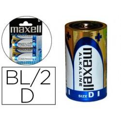 Pilha maxell alcalina 1.5v tipo d lr20 blister de 2 unidades