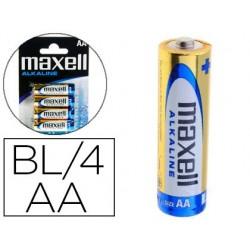 Pilha maxell alcalina 1.5 v tipo aa lr06 blister de 4 unidades
