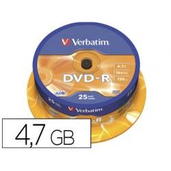 Dvd-r verbatim capacidade 4.7gb velocidade 16x 120 min torre de 25 unidades