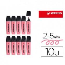 Marcador stabilo boss fluorescente 70 pastel rosa cereja