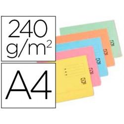 Classificadores cartolina elba din a4 com aba e bolsa pack de 25 unidades cores pastel sortidas 240 gr