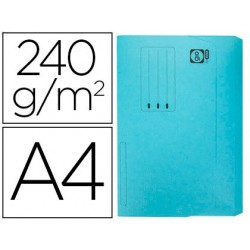 Classificadores cartolina elba din a4 com aba e bolsa pack de 25 unidades azul pastel 240 gr