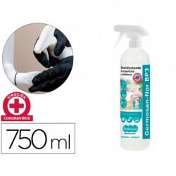 Liquido de limpeza higienizante desinfectante germosan para superficies e mobiliario frasco pulverizador de 750 ml