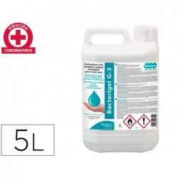 Gel hidroalcoolico bacterigel g-3 para maos limpa e desinfeta sem necesidade de enxaguar garrafa de 5 litros