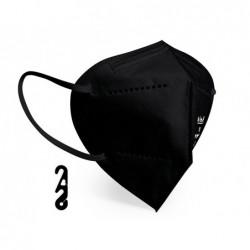 Máscara facial proteção autofiltrante ffp2 com certificado ce cor preta
