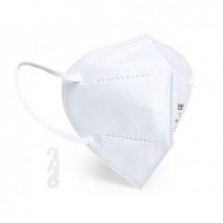 Máscara facial proteção autofiltrante ffp2 com certificado ce cor branca