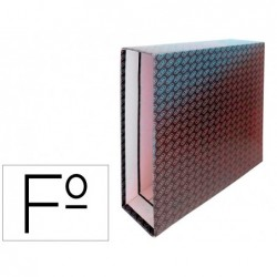 Caixa para pasta de arquivo de alavanca cartao forrado elba folio lombada 85 mm preto