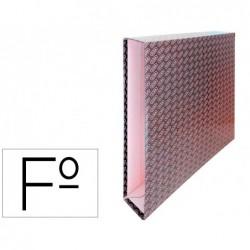 Caixa para pasta de arquivo de alavanca cartao forrado elba folio lombada 65 mm preto