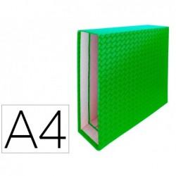 Caixa para pasta de arquivo de alavanca cartao forrado elba din a4 lombada 85 mm verde