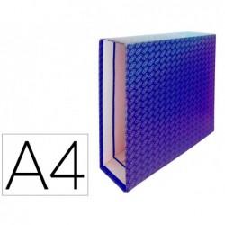 Caixa para pasta de arquivo de alavanca cartao forrado elba din a4 lombada 85 mm azul