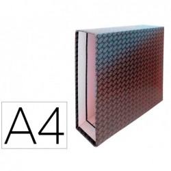 Caixa para pasta de arquivo de alavanca cartao forrado elba din a4 lombada 85 mm preto