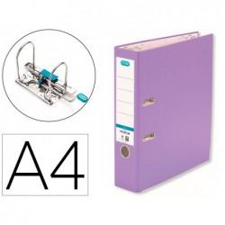 Pasta de arquivo de alavanca elba top cartao compacto polipropileno com rado din a4 lombada de 80 mm violeta
