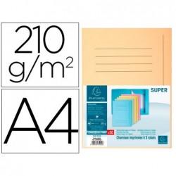 Classificador cartolina com 3 abas exacompta din a4 impresa creme 210 gr