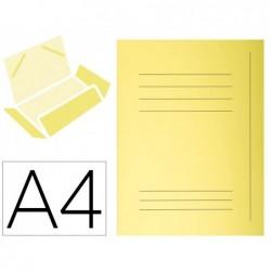 Classificador cartolina com 3 abas exacompta din a4 impresa amarelo canario 210 gr
