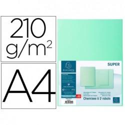 Classificador cartolina com 2 abas exacompta din a4 gama super verde claro 210 gr