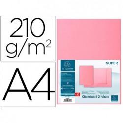 Classificador cartolina com 2 abas exacompta din a4 gama super rosa 210 gr