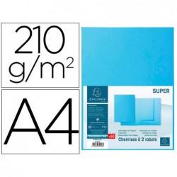 Classificador cartolina com 2 abas exacompta din a4 gama super azul claro 210 gr