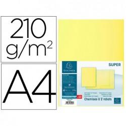 Classificador cartolina com 2 abas exacompta din a4 gama super amarelo canario 210 gr